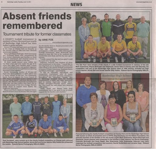 Remembering absent friends