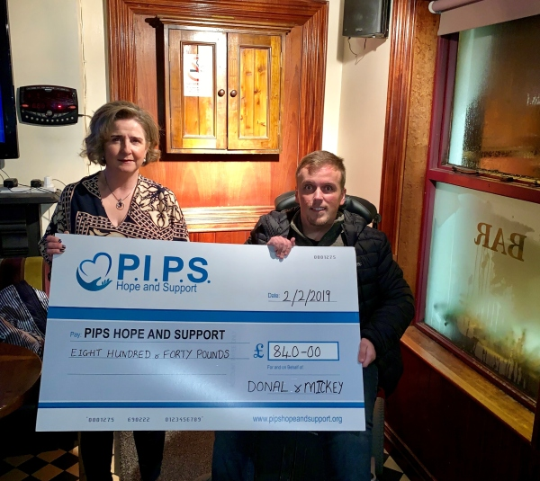 Donal's Beard Shave raises £840.00 for PIPS Hope and Support