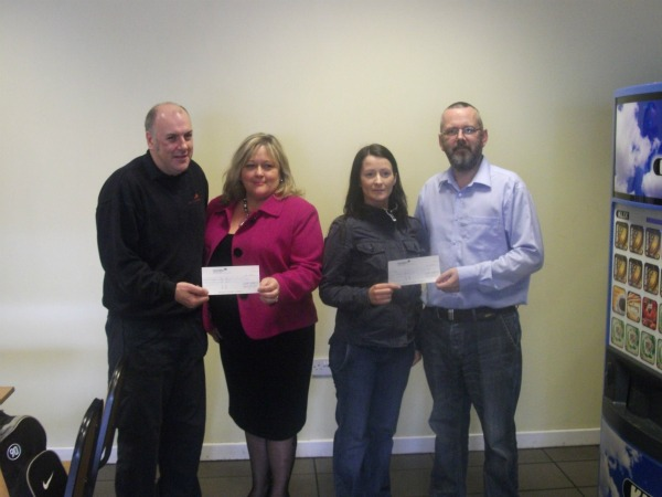 £500 donation from Huhtamaki Lurgan