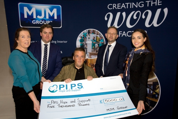 MJM MARINE DONATE £30302 TO PIPS HOPE & SUPPORT
