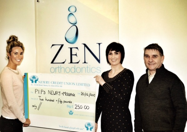 ZEN Orthodontics Newry donate to PIPS Newry & Mourne