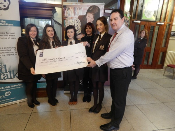Newry High School, 6th form students donate to PIPS Newry & Mourne