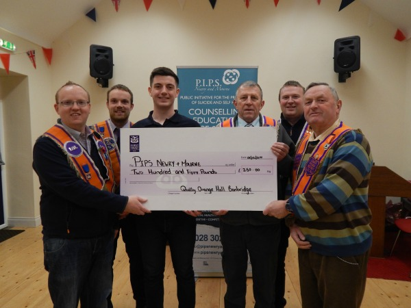 Quilly Orange Hall donation